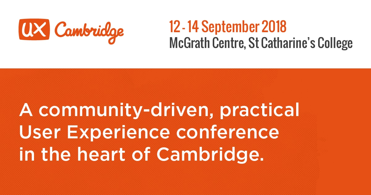 Welcome | UX Cambridge 2018